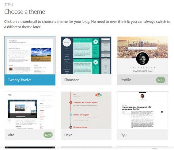 Escolha um tema gratuito para seu blog