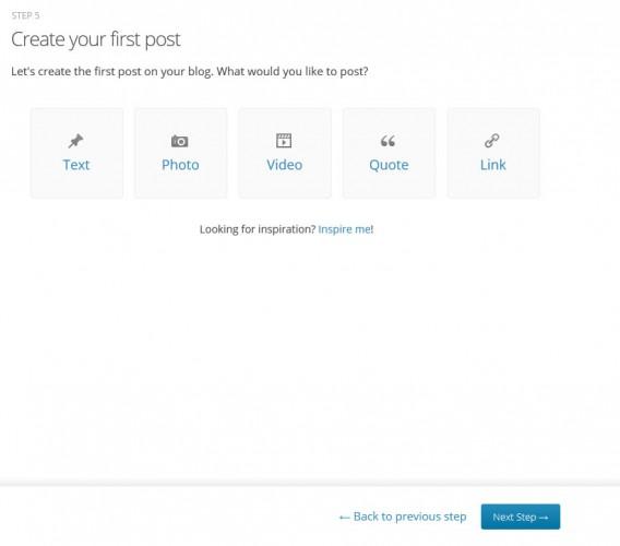 Tela para você começar a escrever um post no WordPress