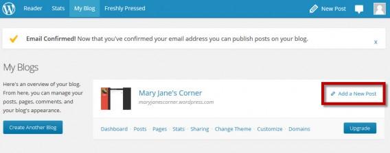 Após configuração do blog, você está apto a escrever