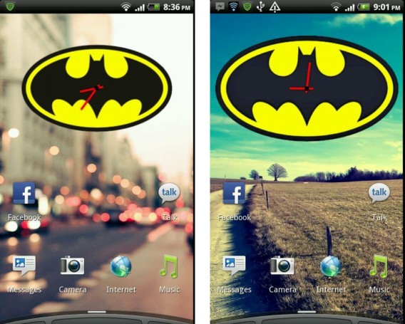Batman Clock Widget: screenshot