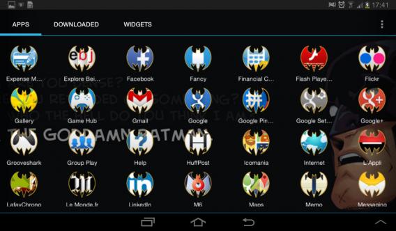 Ícones do Batman no Android