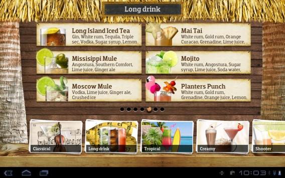 Interface de Cocktail Flow