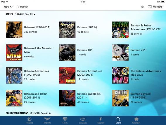 Quadrinhos do Batman foram reunidos no mesmo app