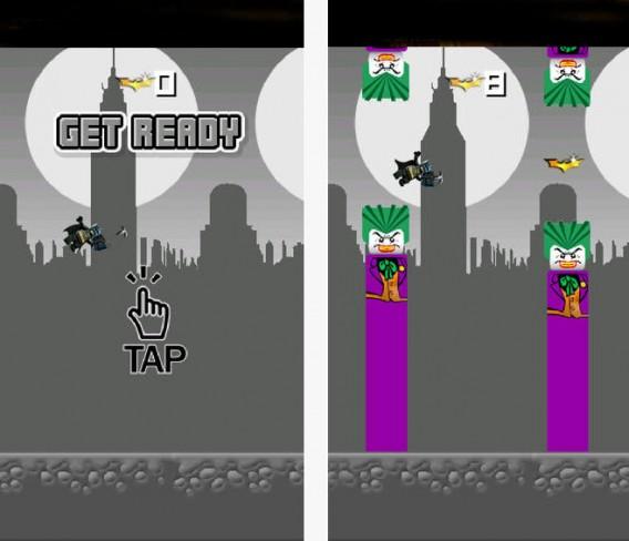 Flappy Gotham é um clone do Flappy Bird com o morcegão para iOS
