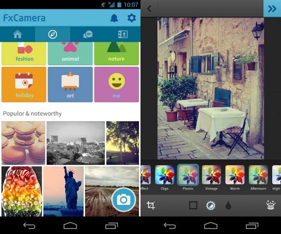 Quantidade de filtros do FXCamera aumenta a possibilidade de fotos criativas