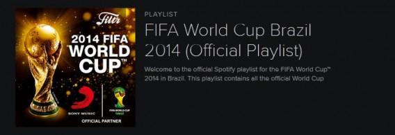 Spotify: la playlist officielle du Mondial