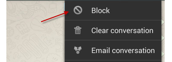Bloquer contact sur Whatsapp