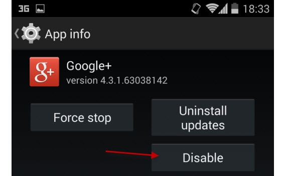 Android disable apps