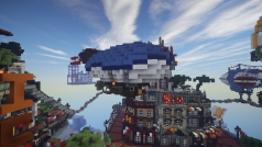 La ciudad celestial de Minecraft: no mires abajo