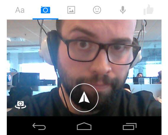 Prendre un selfie avec Facebook Messenger