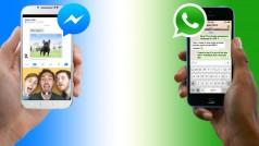 WhatsApp vs. Facebook Messenger: ¿cuándo hay que usar una o otra?