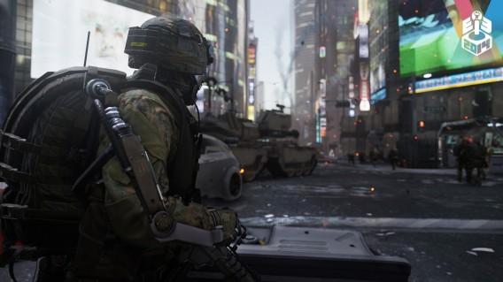 Veículos blindados e cenas típicas da série Call of Duty