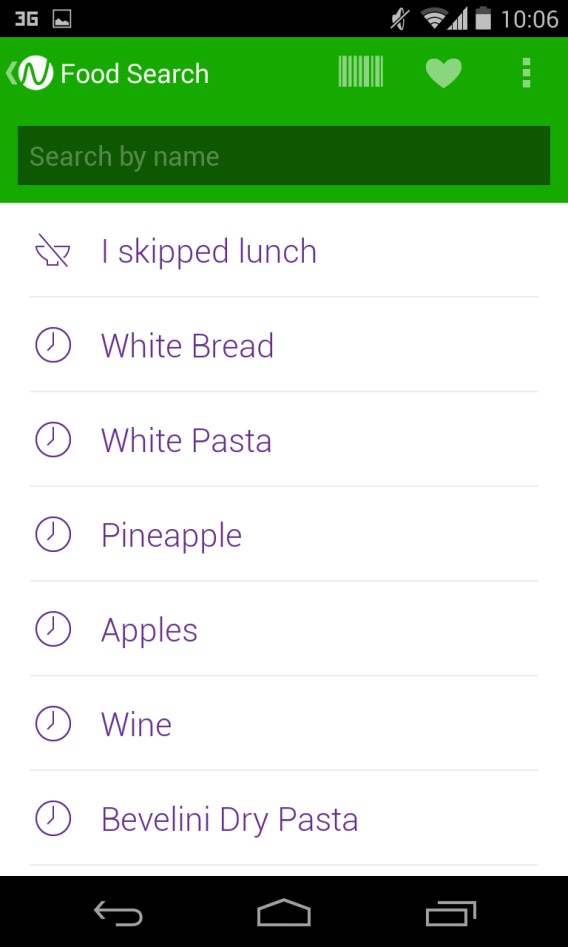 Noom - enregistrement des aliments consommés