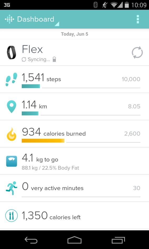 FitBit - suivi de la progression