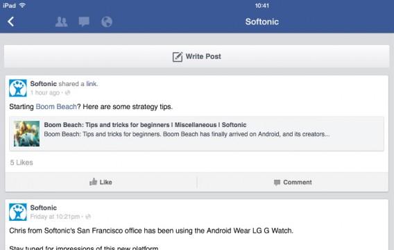 """Dans l'appli Facebook, pas de bouton """"Partage"""" sur certaines publications"""