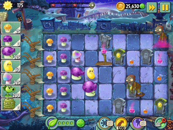 Interface Plants vs Zombies: Dark Ages