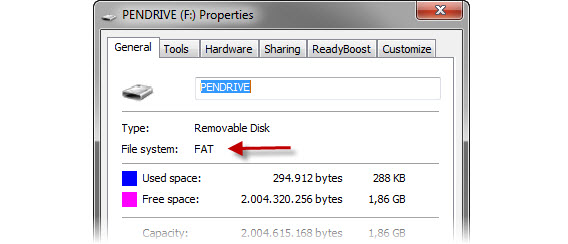 how to change usb drive file system fat32