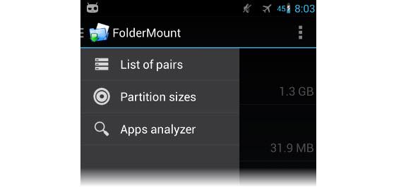 Folder Mount ajuda a resolver o problema de espaço livre no Android