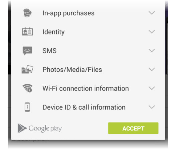 Permissions - Google Play