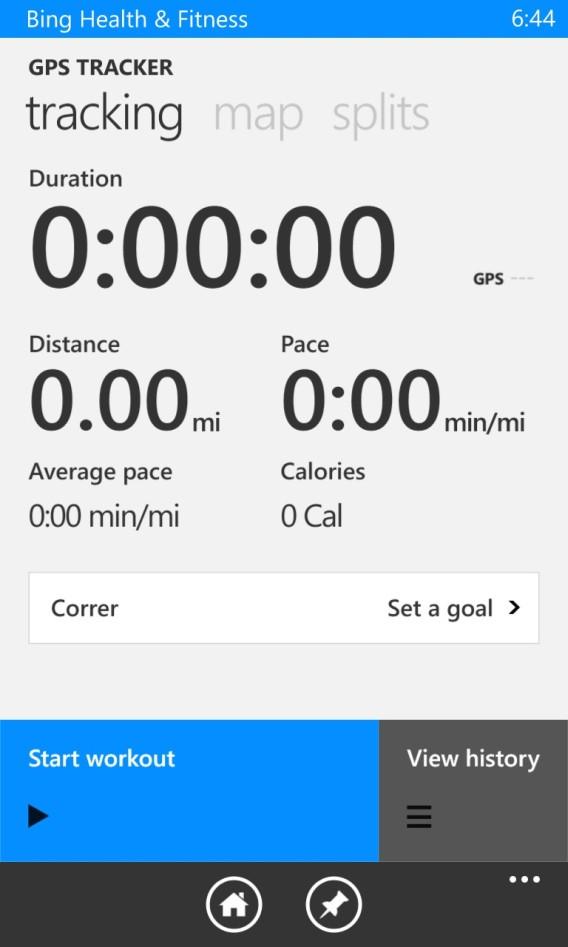 Bing - calcul de l'activité physique
