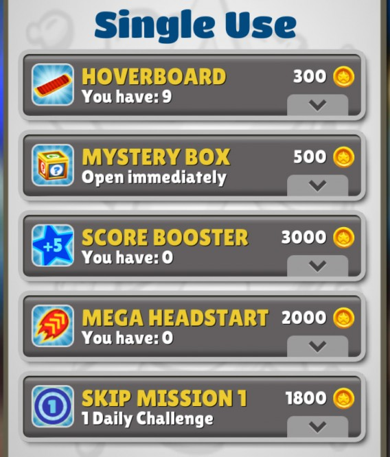 Subway Surfers singleuse