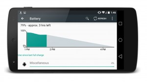 Hasta un 36% mas de batería gracias a Android L