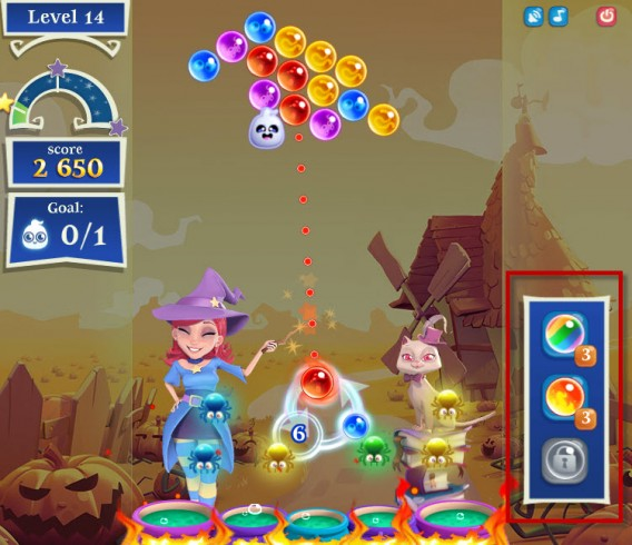 Bubble Witch Saga 2 power-up
