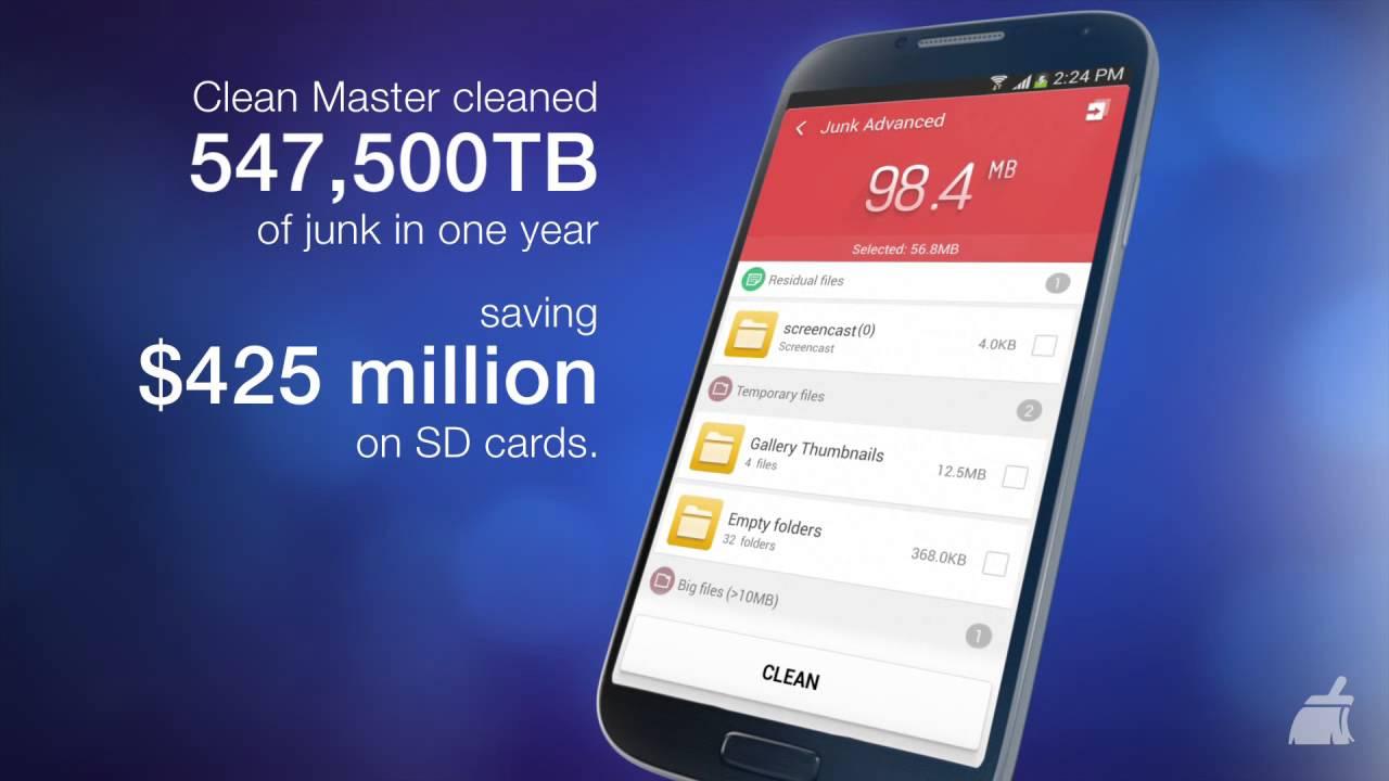 Clean Master para Android se actualiza: nuevo diseño y escaneo más rápido