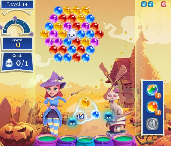 Bubble Witch Saga 2 ghosts