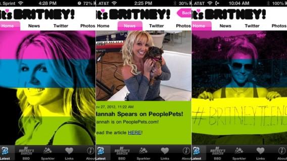 Aplicativo especial sobre a cantora Britney Spears