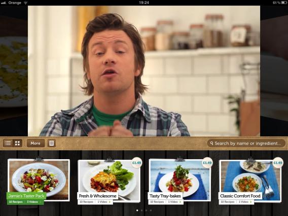 Jamie Oliver's Recipes traz as melhores receitas do apresentador-cozinheiro