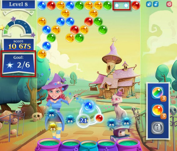 Bubble Witch Saga 2 light beams