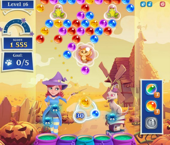 Bubble Witch Saga 2 animals