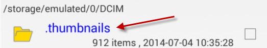 Secure Delete pour Android - Thumbnail folder