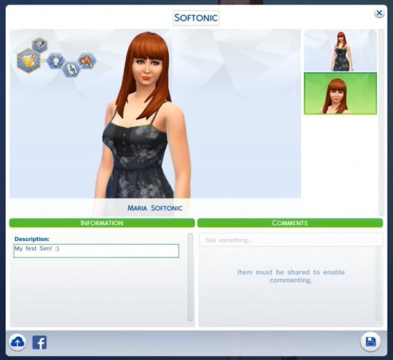 Personagem criado e finalizado no The Sims 4