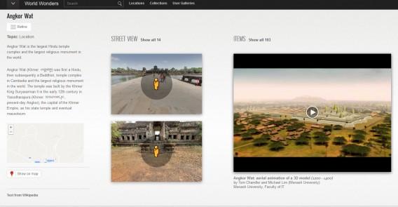 World Wonder do Google traz informações e fotografias de paisagens turísticas