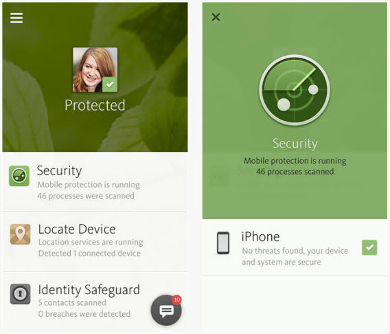 Avira Mobile Security protege o seu dispositivo