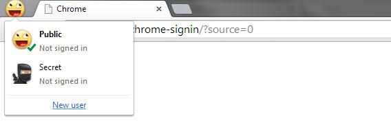 Les profils de Chrome