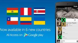 Google Play Music Unlimited llega a Colombia, Perú, Chile y más