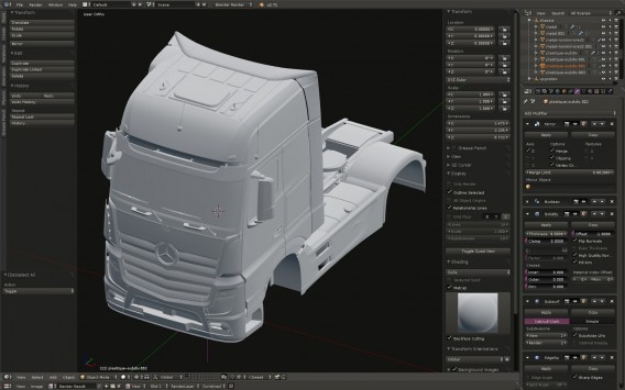 Mercedes Euro Truck Simulator 2