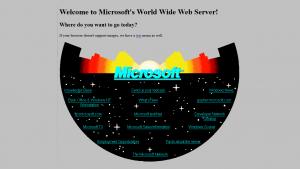 Microsoft recrea su página web de 1994 para celebrar su 20 aniversario