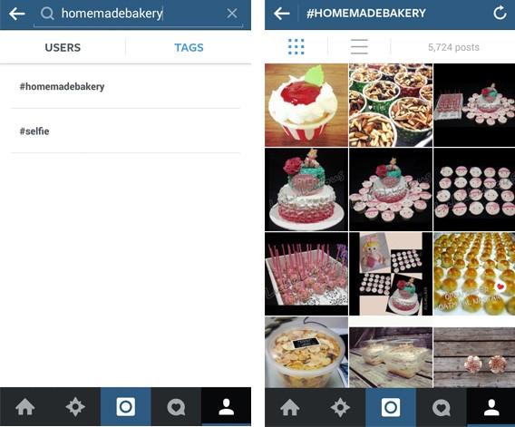 Rechercher les hashtags d'Instagram
