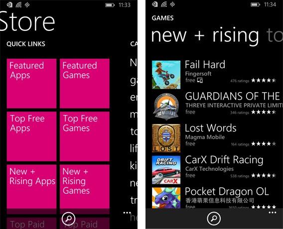 Windows Phone Store tem 23% do catálogo de jogos