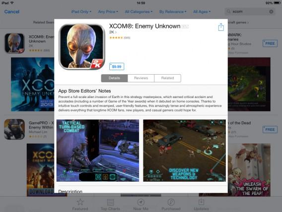 XCOM: Enemy Unknow desempenhou um bom papel no iOS