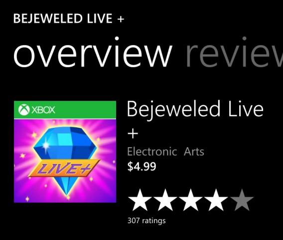 Jogos com a tarja do Xbox na loja de aplicativos do Windows Phone