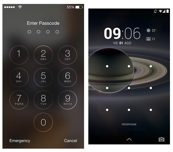 Proteja o seu celular com um código de bloqueio