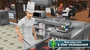 Cocina o regenta un restaurante en Los Sims FreePlay