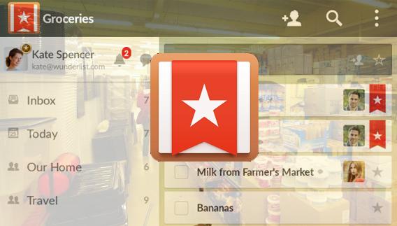 Wunderlist app para listas