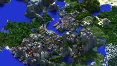 Minecraft presenta una ciudad de tres años de trabajo