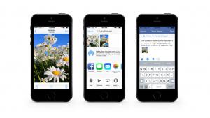 """Facebook para iOS 8 """"invadirá"""" el resto de tus apps"""